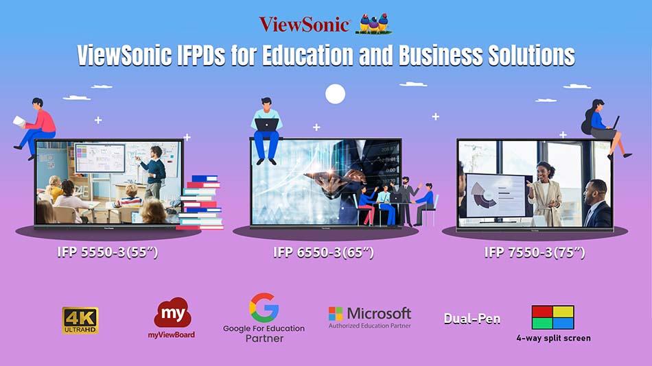 Multi-purpose ViewSonic IFP 50 Series debuts